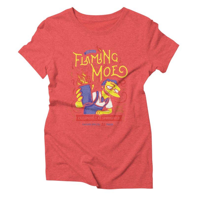 Flaming Moe Women's Triblend T-Shirt by coddesigns's Artist Shop