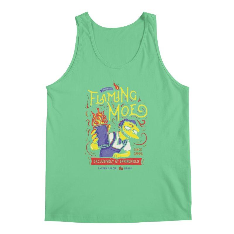 Flaming Moe Men's Tank by coddesigns's Artist Shop