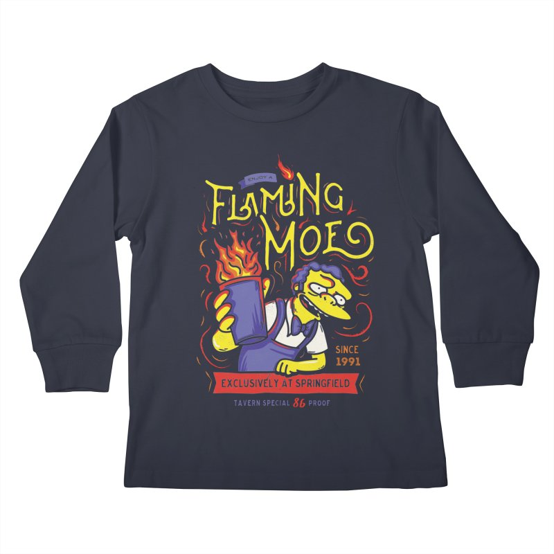 Flaming Moe Kids Longsleeve T-Shirt by coddesigns's Artist Shop