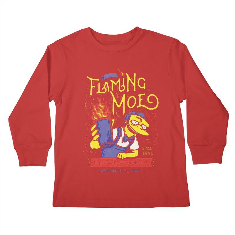 Flaming Moe Kids Longsleeve T-Shirt by coddesigns's Artist Shop