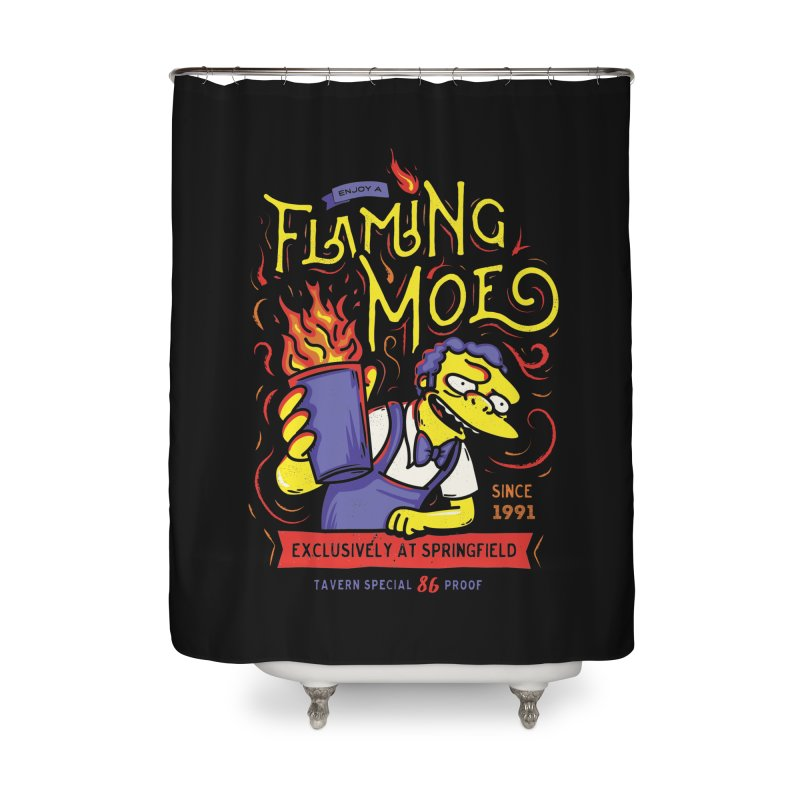 Flaming Moe Home Shower Curtain by coddesigns's Artist Shop