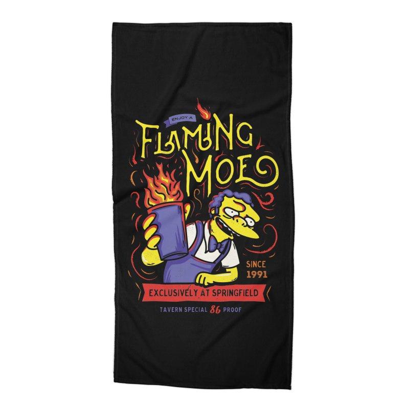 Flaming Moe Accessories Beach Towel by coddesigns's Artist Shop