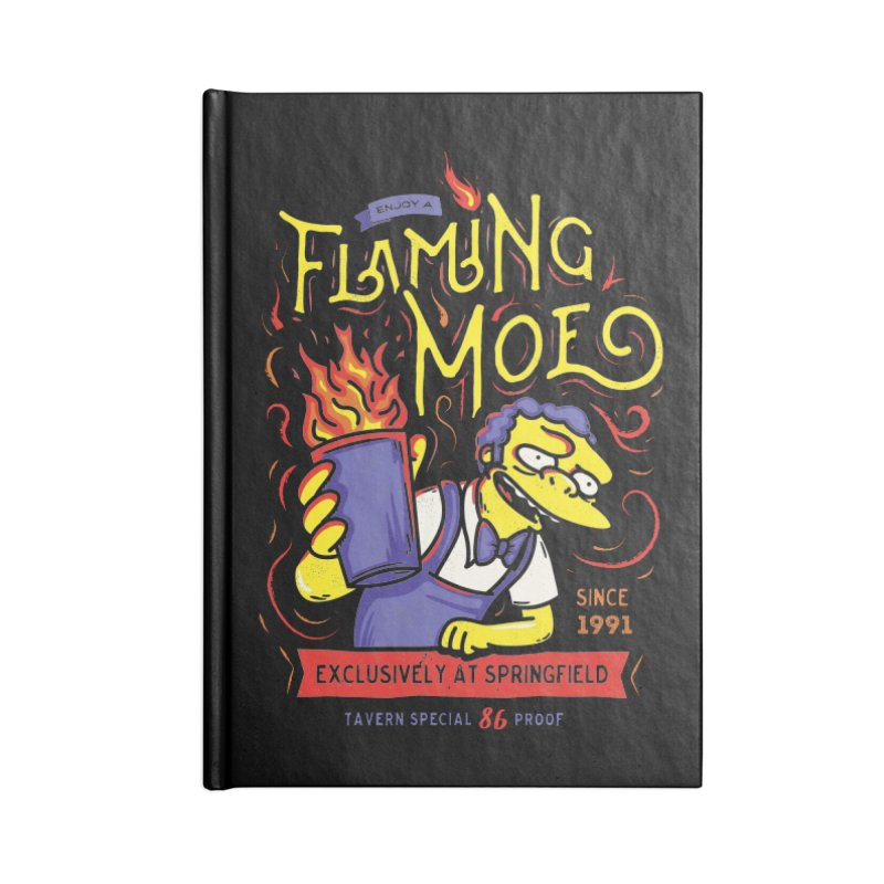 Flaming Moe Accessories Notebook by coddesigns's Artist Shop
