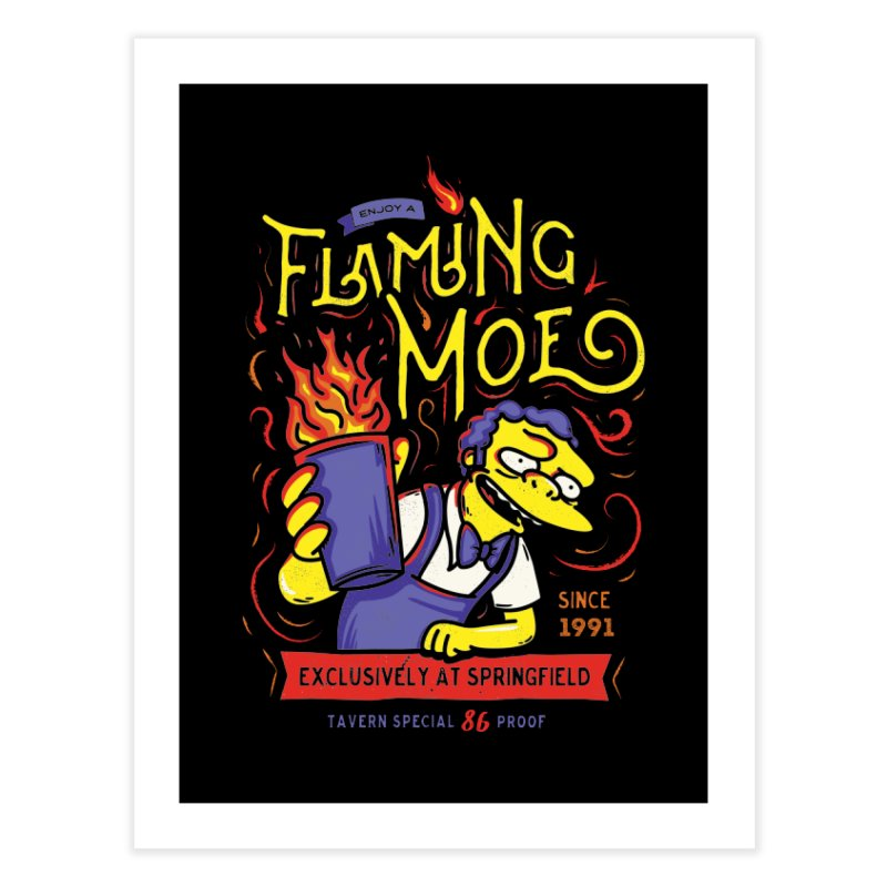 Flaming Moe Home Fine Art Print by coddesigns's Artist Shop