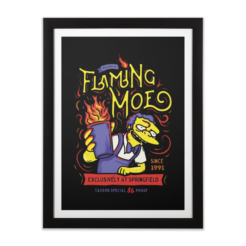 Flaming Moe Home Framed Fine Art Print by coddesigns's Artist Shop