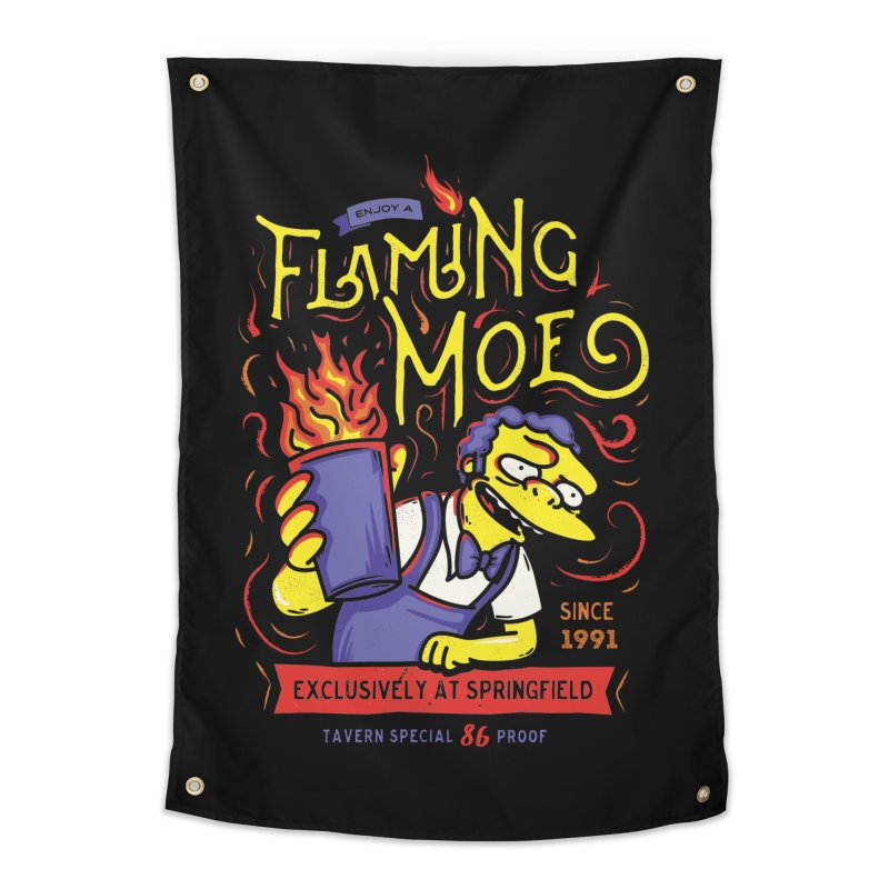 Flaming Moe Home Tapestry by coddesigns's Artist Shop