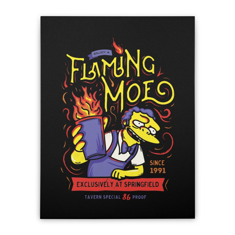 Flaming Moe Home Stretched Canvas by coddesigns's Artist Shop