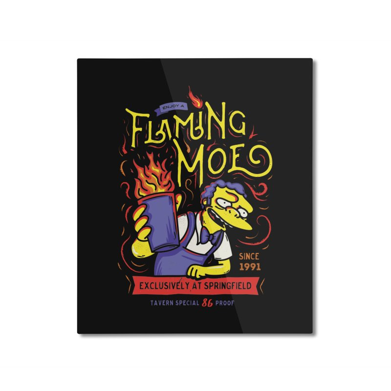 Flaming Moe Home Mounted Aluminum Print by coddesigns's Artist Shop