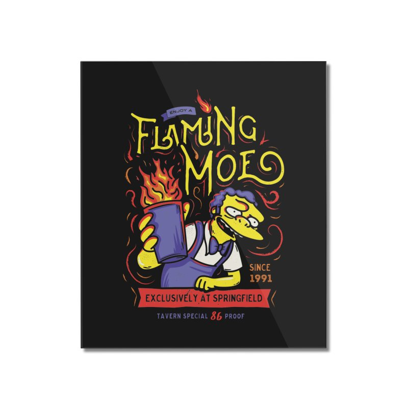 Flaming Moe Home Mounted Acrylic Print by coddesigns's Artist Shop