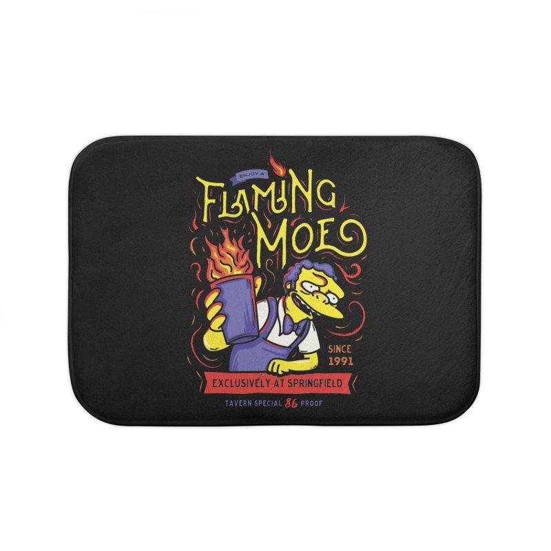 Flaming Moe Home Bath Mat by coddesigns's Artist Shop