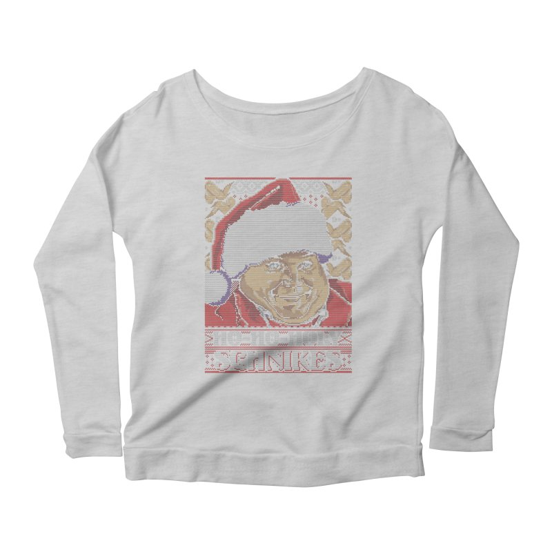 Ho Ho Holy Schnikes Women's Longsleeve Scoopneck  by coddesigns's Artist Shop