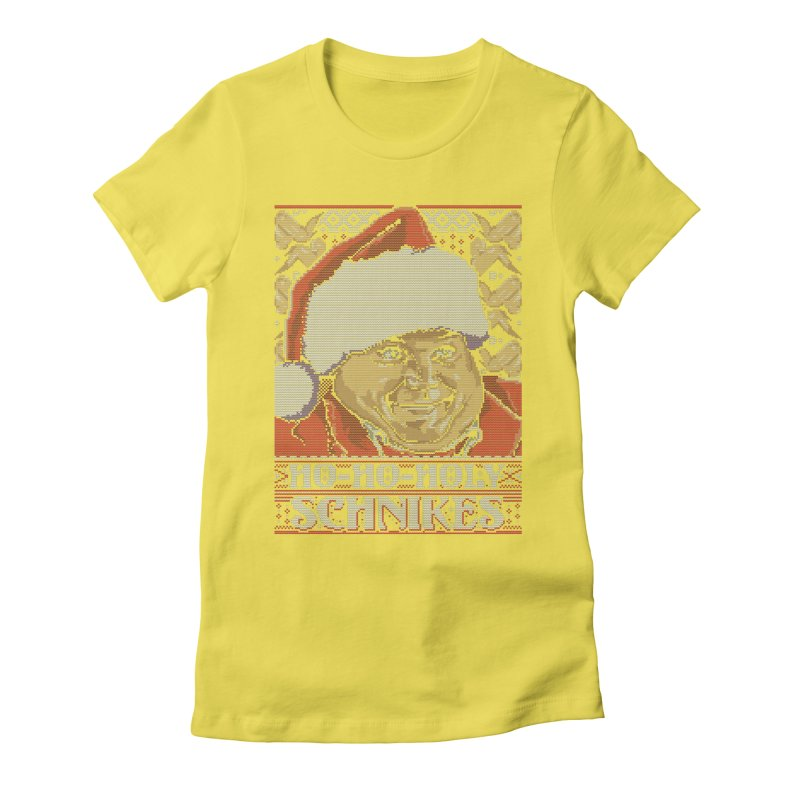 Ho Ho Holy Schnikes Women's Fitted T-Shirt by coddesigns's Artist Shop