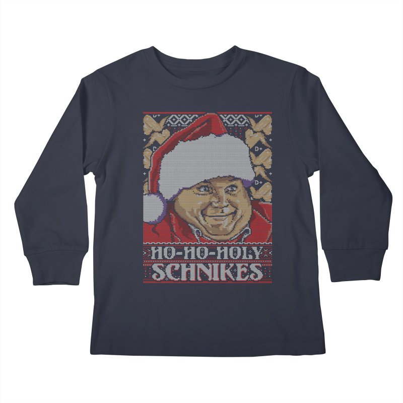 Ho Ho Holy Schnikes Kids Longsleeve T-Shirt by coddesigns's Artist Shop