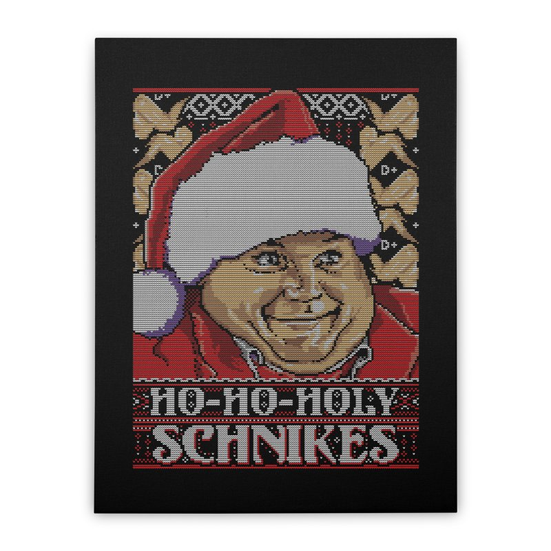 Ho Ho Holy Schnikes Home Stretched Canvas by coddesigns's Artist Shop