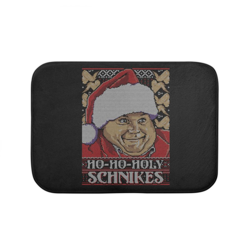 Ho Ho Holy Schnikes Home Bath Mat by coddesigns's Artist Shop