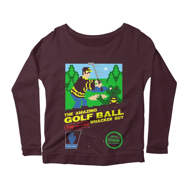 Happy Golf Women's Longsleeve Scoopneck  by coddesigns's Artist Shop