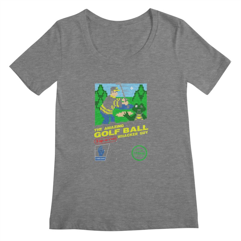 Happy Golf Women's Scoopneck by coddesigns's Artist Shop