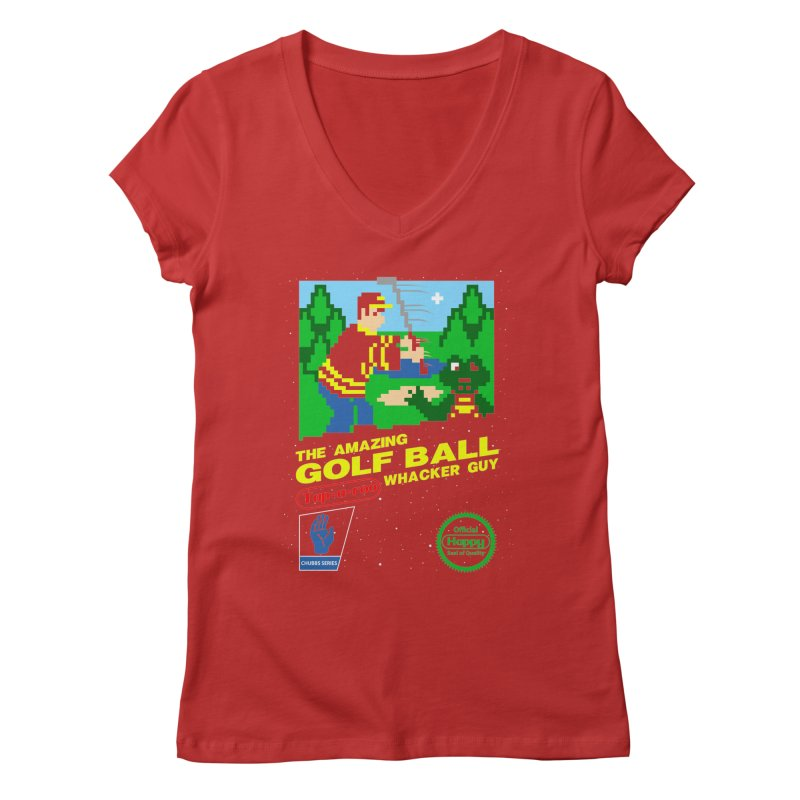 Happy Golf Women's V-Neck by coddesigns's Artist Shop