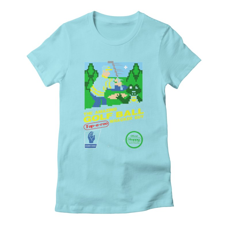 Happy Golf Women's Fitted T-Shirt by coddesigns's Artist Shop