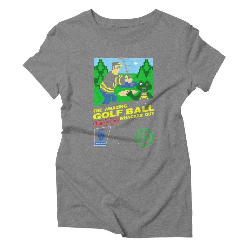Happy Golf Women's Triblend T-Shirt by coddesigns's Artist Shop