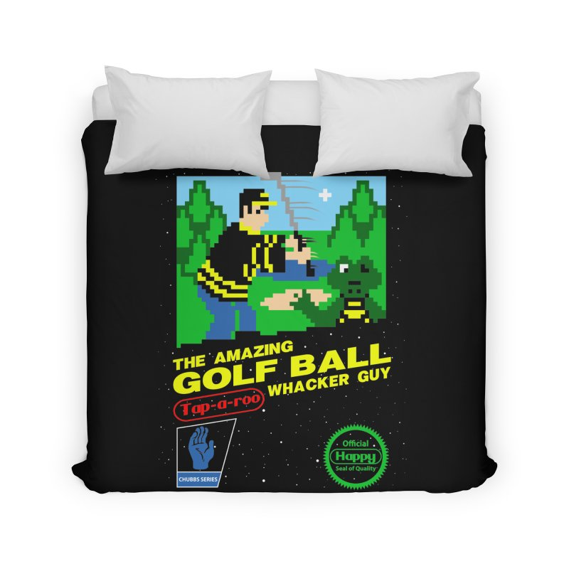 Happy Golf Home Duvet by coddesigns's Artist Shop