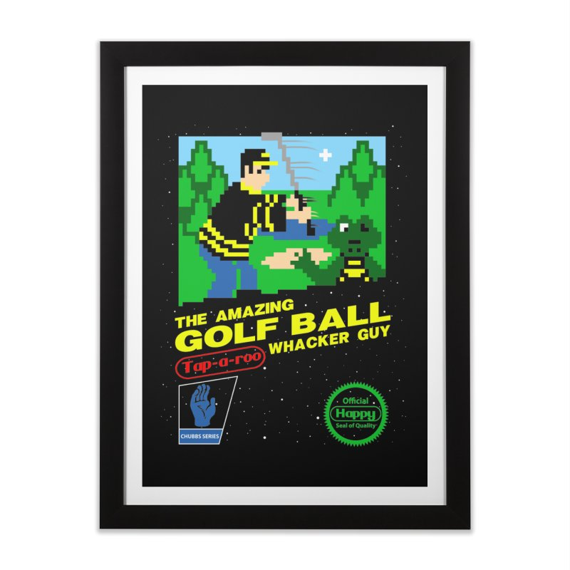 Happy Golf Home Framed Fine Art Print by coddesigns's Artist Shop