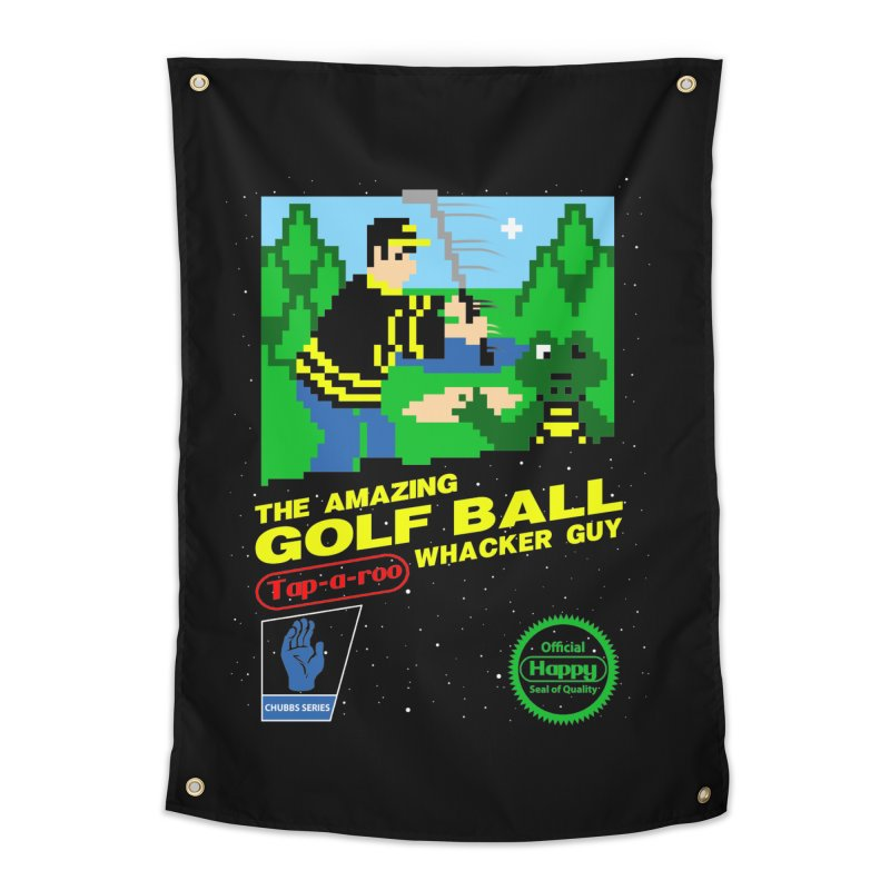 Happy Golf Home Tapestry by coddesigns's Artist Shop