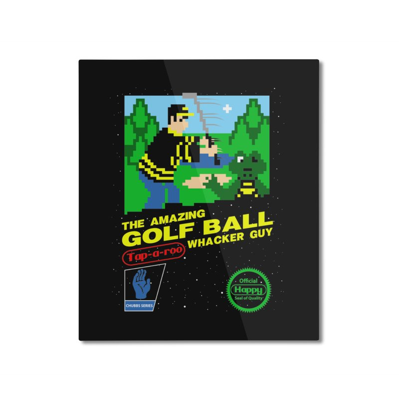 Happy Golf Home Mounted Aluminum Print by coddesigns's Artist Shop