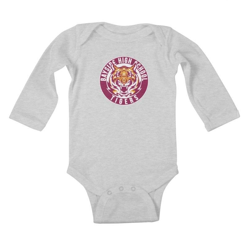 Bayside Tigers Kids Baby Longsleeve Bodysuit by coddesigns's Artist Shop