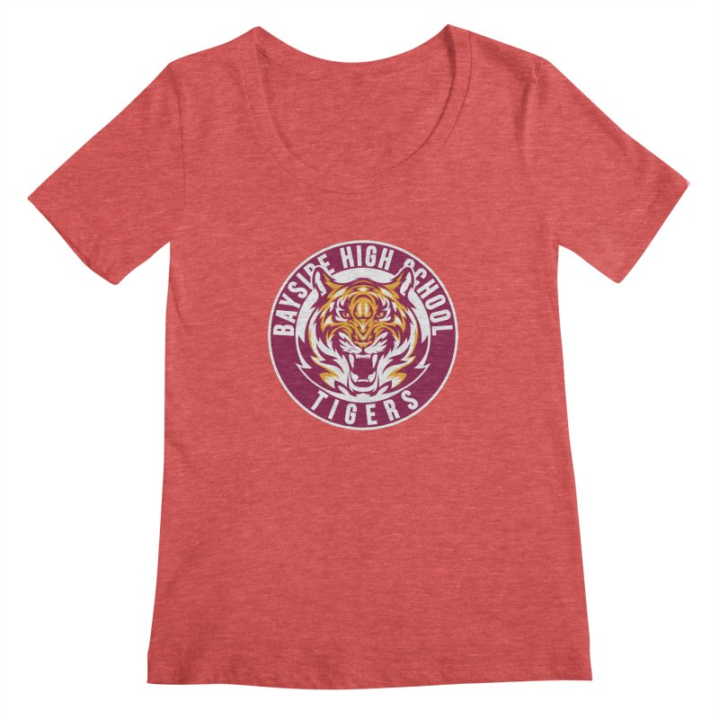 Bayside Tigers Women's Scoopneck by coddesigns's Artist Shop