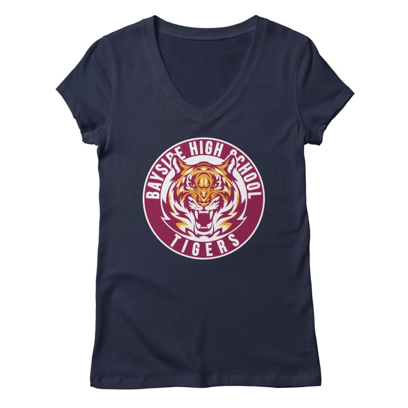 Bayside Tigers Women's V-Neck by coddesigns's Artist Shop