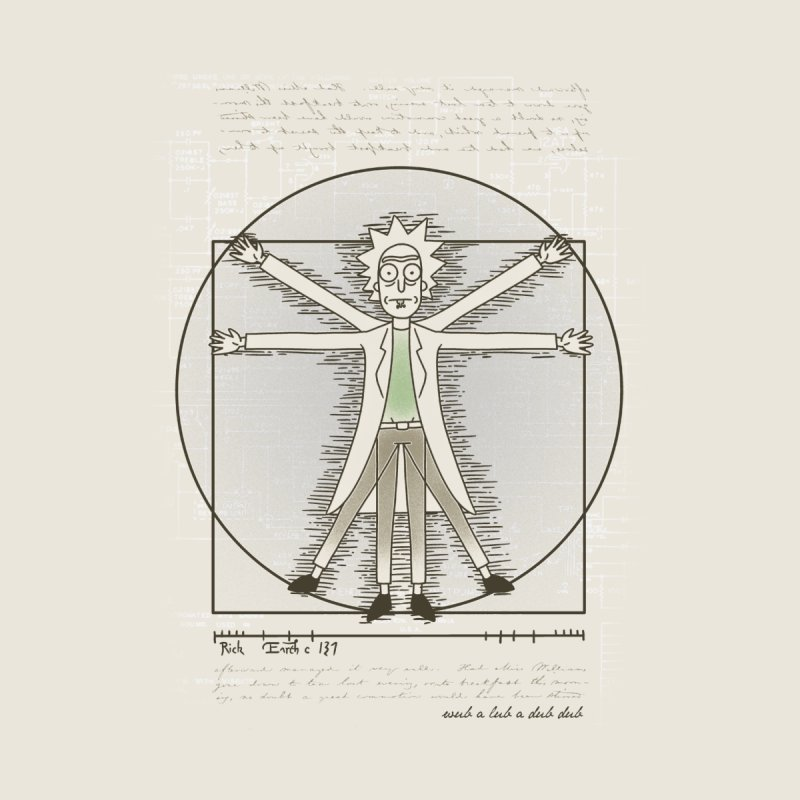 Vitruvian Rick by coddesigns's Artist Shop