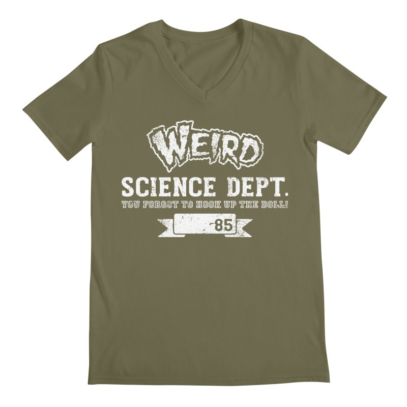 Weird Science Dept. Men's V-Neck by coddesigns's Artist Shop