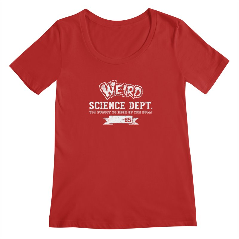 Weird Science Dept. Women's Scoopneck by coddesigns's Artist Shop