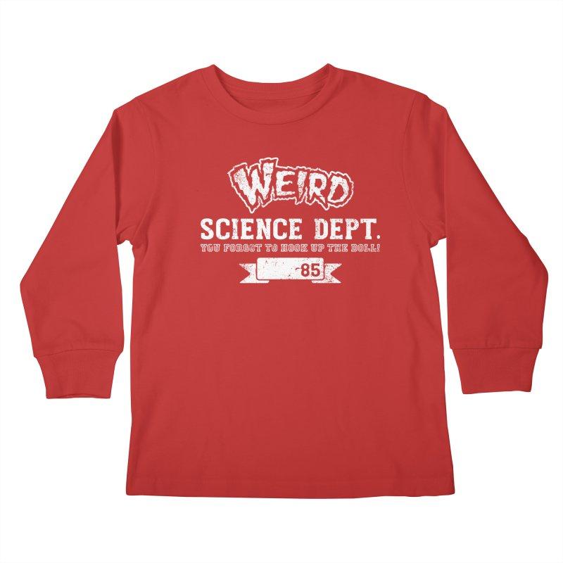 Weird Science Dept. Kids Longsleeve T-Shirt by coddesigns's Artist Shop