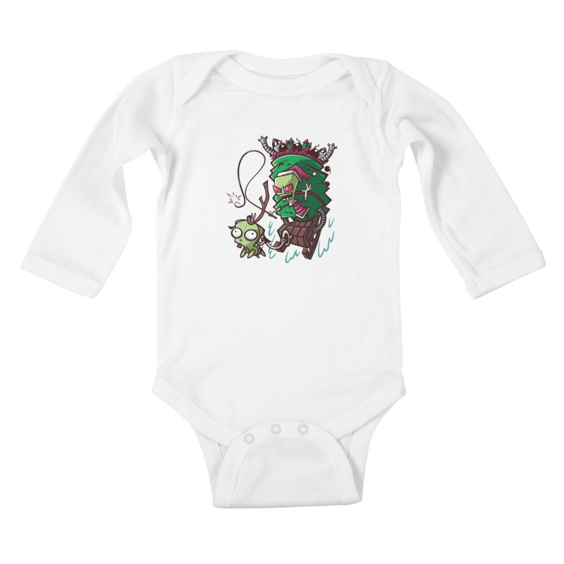 Zim Stole XMas Kids Baby Longsleeve Bodysuit by coddesigns's Artist Shop