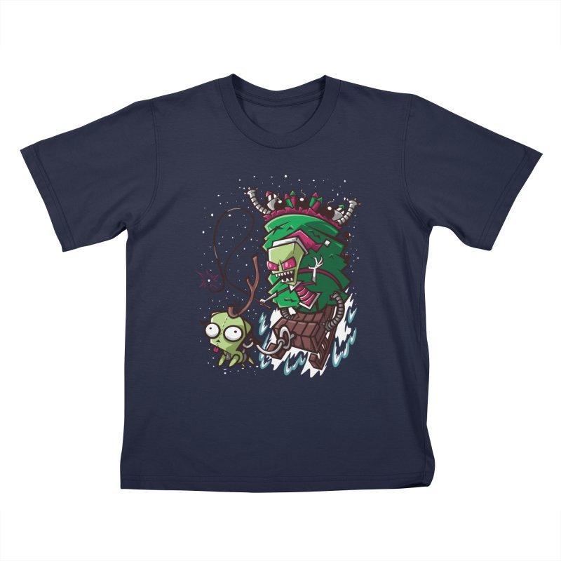 Zim Stole XMas Kids T-shirt by coddesigns's Artist Shop