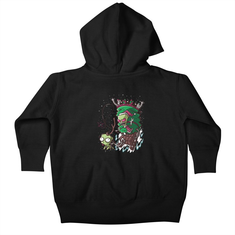 Zim Stole XMas Kids Baby Zip-Up Hoody by coddesigns's Artist Shop