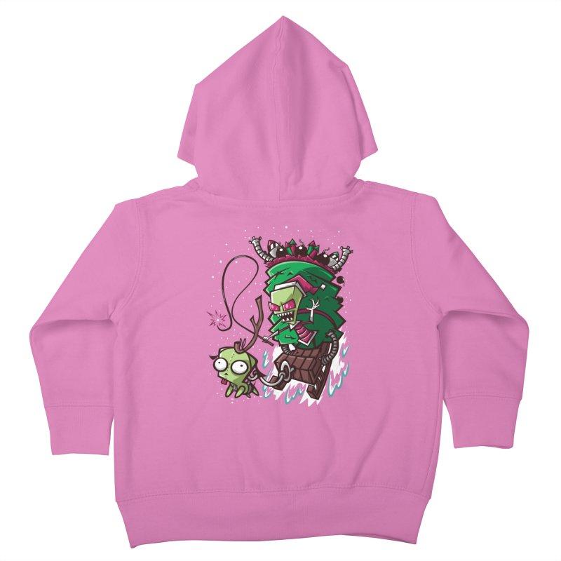 Zim Stole XMas Kids Toddler Zip-Up Hoody by coddesigns's Artist Shop