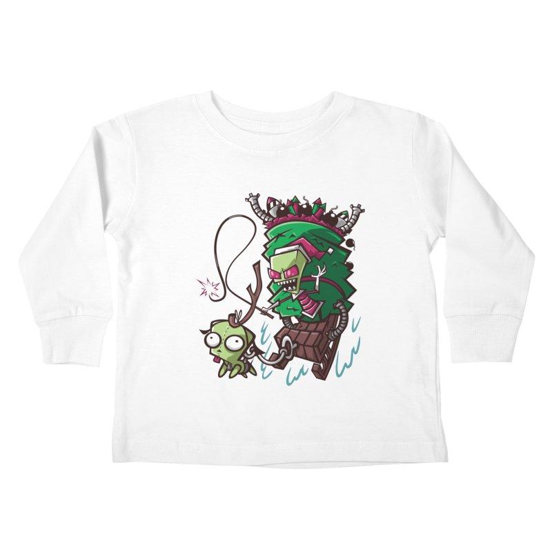 Zim Stole XMas Kids Toddler Longsleeve T-Shirt by coddesigns's Artist Shop