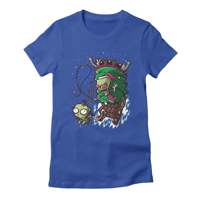Zim Stole XMas Women's Fitted T-Shirt by coddesigns's Artist Shop