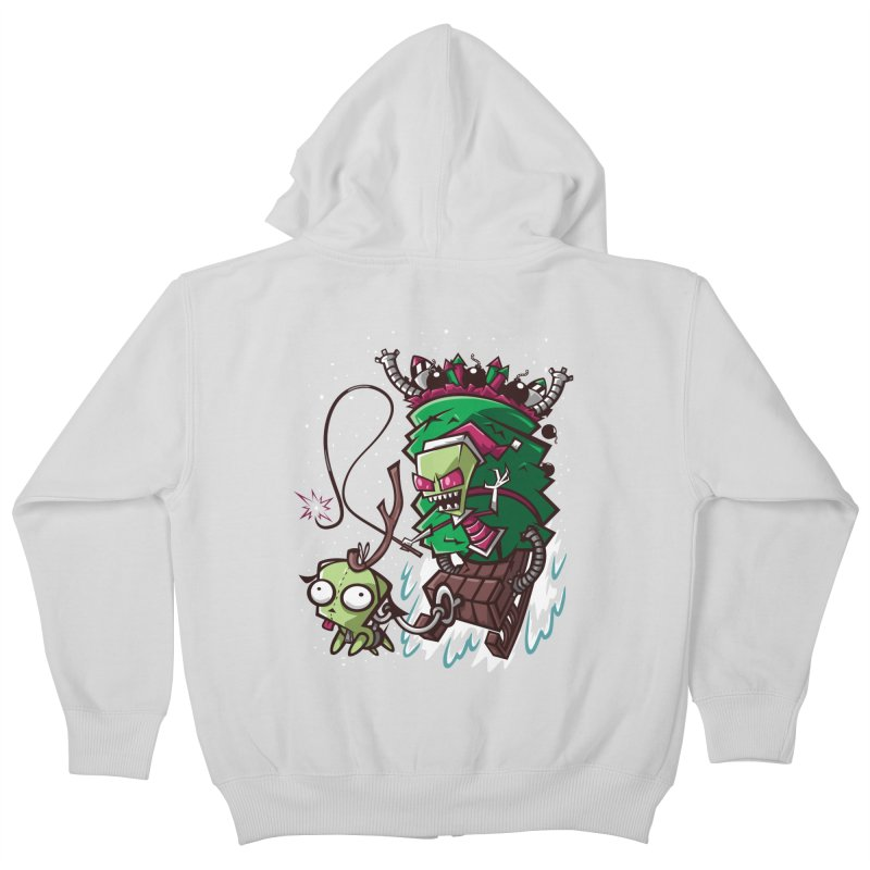 Zim Stole XMas Kids Zip-Up Hoody by coddesigns's Artist Shop