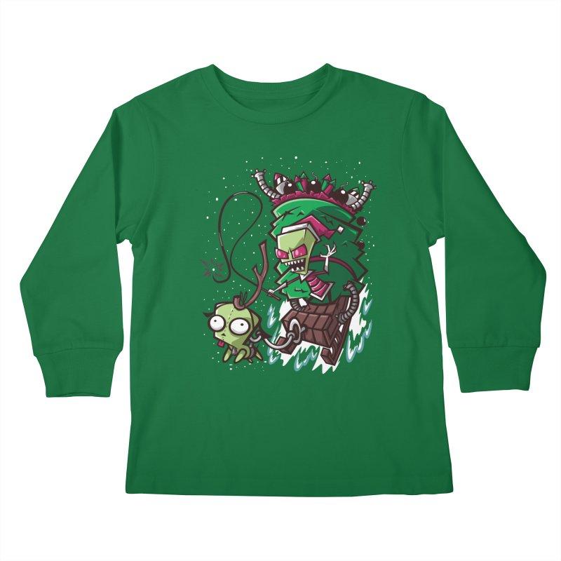 Zim Stole XMas Kids Longsleeve T-Shirt by coddesigns's Artist Shop