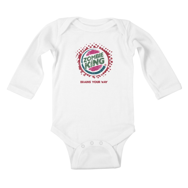 Zombie King Kids Baby Longsleeve Bodysuit by coddesigns's Artist Shop