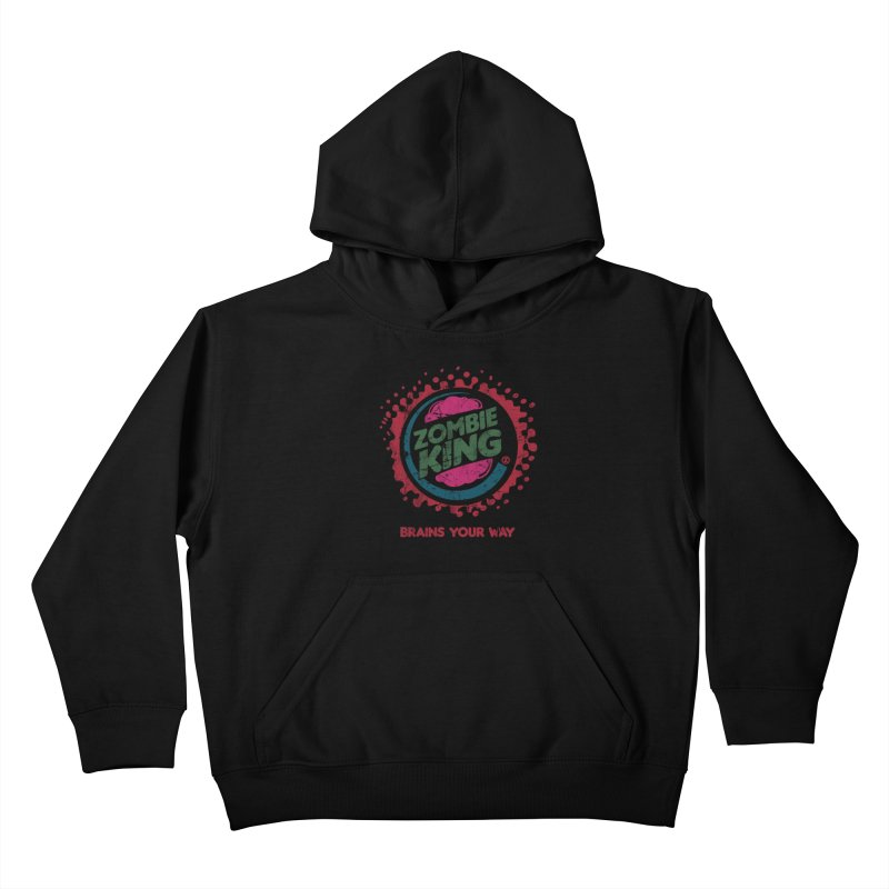 Zombie King Kids Pullover Hoody by coddesigns's Artist Shop