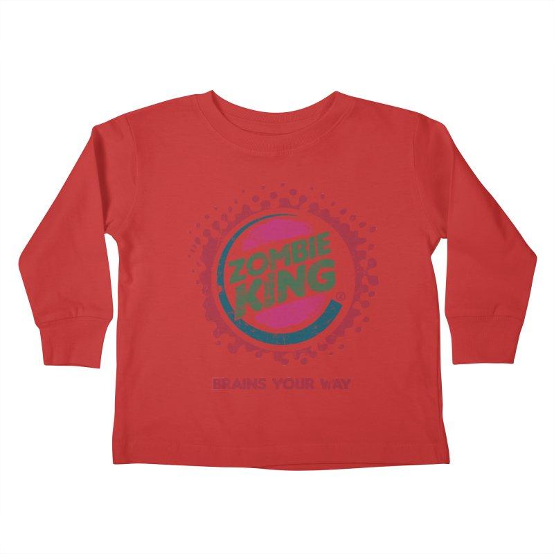 Zombie King Kids Toddler Longsleeve T-Shirt by coddesigns's Artist Shop