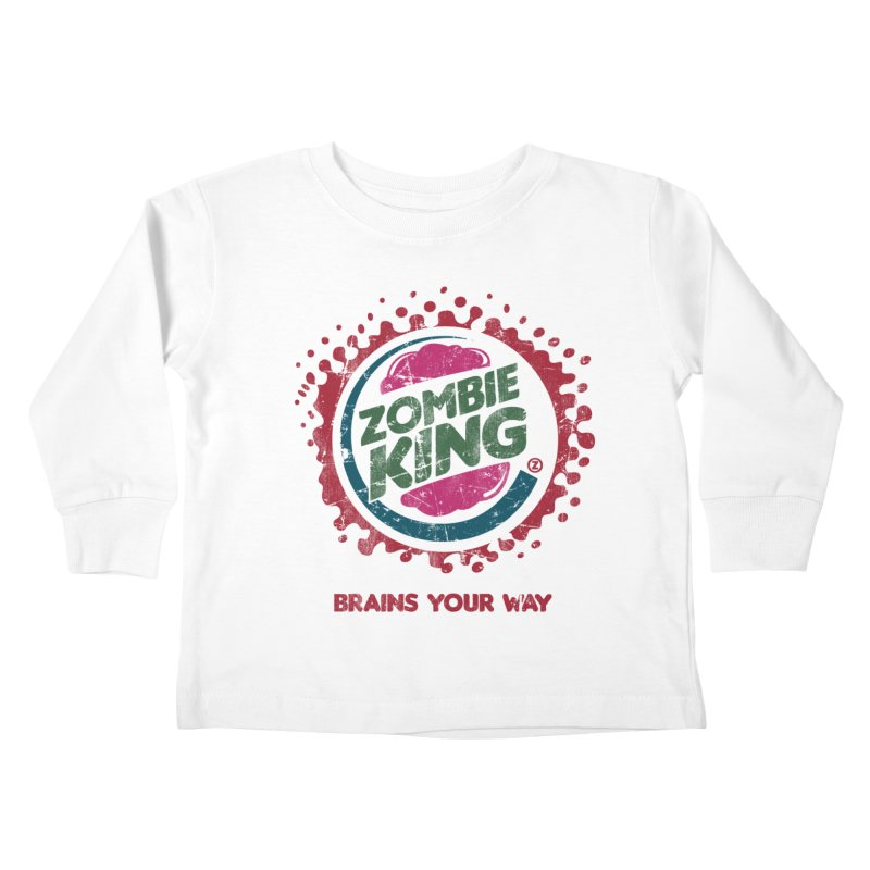 Zombie King Kids Toddler Longsleeve T-Shirt by coddesigns's Artist Shop