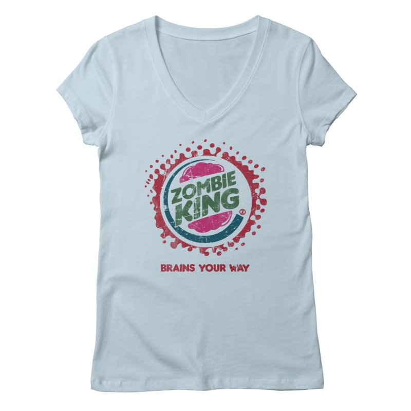 Zombie King Women's V-Neck by coddesigns's Artist Shop