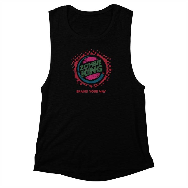 Zombie King Women's Muscle Tank by coddesigns's Artist Shop