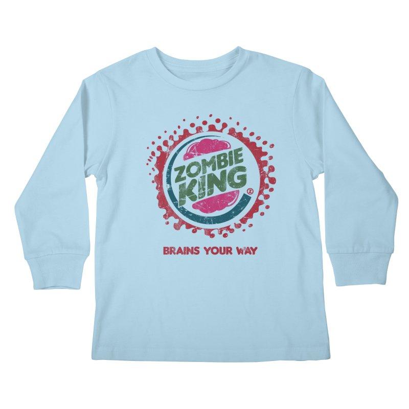 Zombie King Kids Longsleeve T-Shirt by coddesigns's Artist Shop